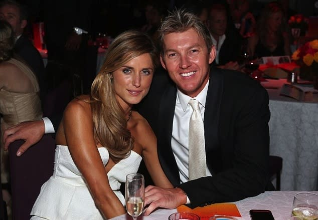 Brett Lee and Lana Anderson