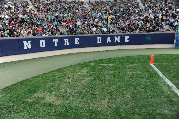 Notre Dame selling stadium turf sections for $150