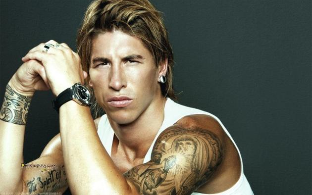 Ramos combines Blue Steel, Magnum, Ferrai and Le Tirge in one pose (wallike.com)