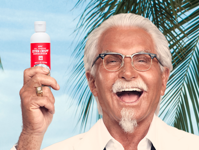 KFC Gives Away Fried Chicken-Scented Sunscreen