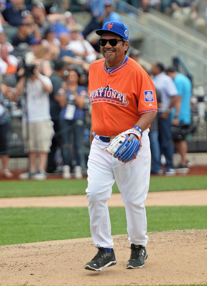 NEW YORK, NY - JULY 14: Actor/comedian George Lopez attends the Taco Bell All-Star Legends & Celebrity Softball Game at Citi Field on July 14, 2013 in New York City. (Photo by Mike Coppola/Getty Images)