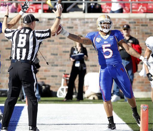 BYU beats Tulsa with late TD in Armed Forces Bowl