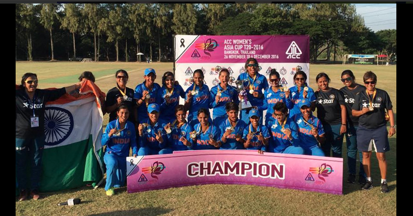 <p>India women's cricket team elated after edging past Pakistan by 17 runs. </p>