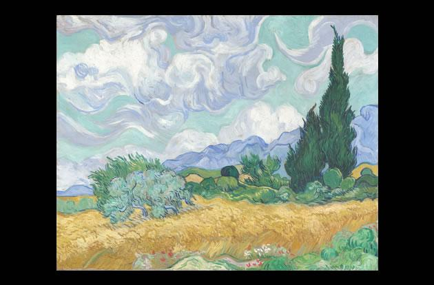"""A Wheatfield with Cypresses"" by Vincent van Gogh, $57 million."