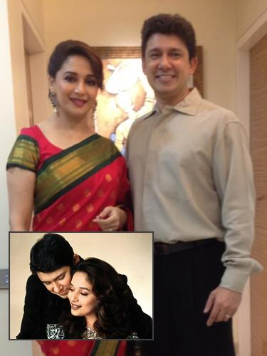 <b>Madhuri Dixit and Shriram Nene<br><br></b><p> The whole nation was taken aback when Madhuri Dixit announced her marriage with Dr. Shriram Nene in 1999. The<em> 'dhak dhak girl' </em>broke millions of hearts when she took a hiatus from films after her marriage.</p> <p>  Post-marriage, she got settled in Denver, USA with her husband who is a  cardiovascular surgeon. Now a mother of two sons, Madhuri was at the  peak of her career when she married a person who was completely out of  her super stardom world.</p>
