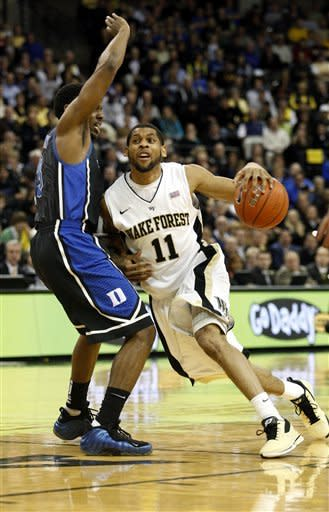 No. 4 Duke holds on to beat Wake Forest 79-71