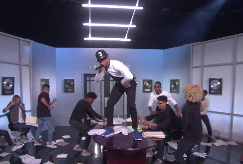 Chance the Rapper performs on 'Ellen' with Lil Wayne and 2 Chainz