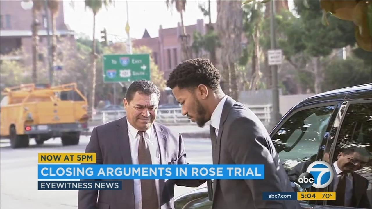 NBA star Derrick Rose arrived to federal court early Tuesday morning in downtown Los Angeles, nearly two weeks after a sexual battery lawsuit against him and two friends went to trial.
