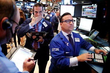 Wall St near record highs as oil, tech stocks lift