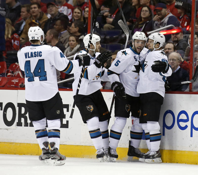 Sharks defeat Capitals 2-1 in shootout