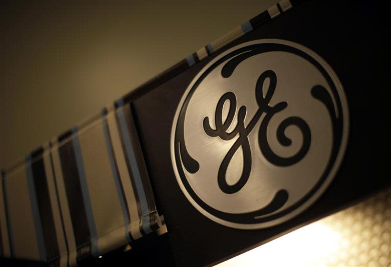 A GE logo is seen in a store in Santa Monica