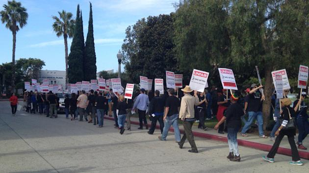 AFTRA Pickets as Video Game Employers Call Strike