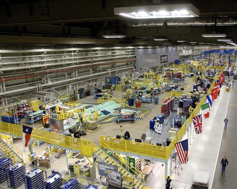 Handout picture shows Lockheed Martin jet plant in Fort Worth Texas