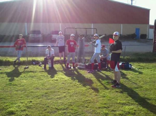 The Highlands School baseball team at practice — The Highlands School