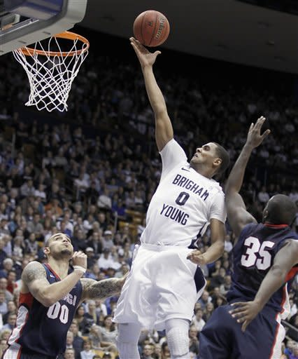 Hartsock scores 24 as BYU tops No. 24 Zags 83-73