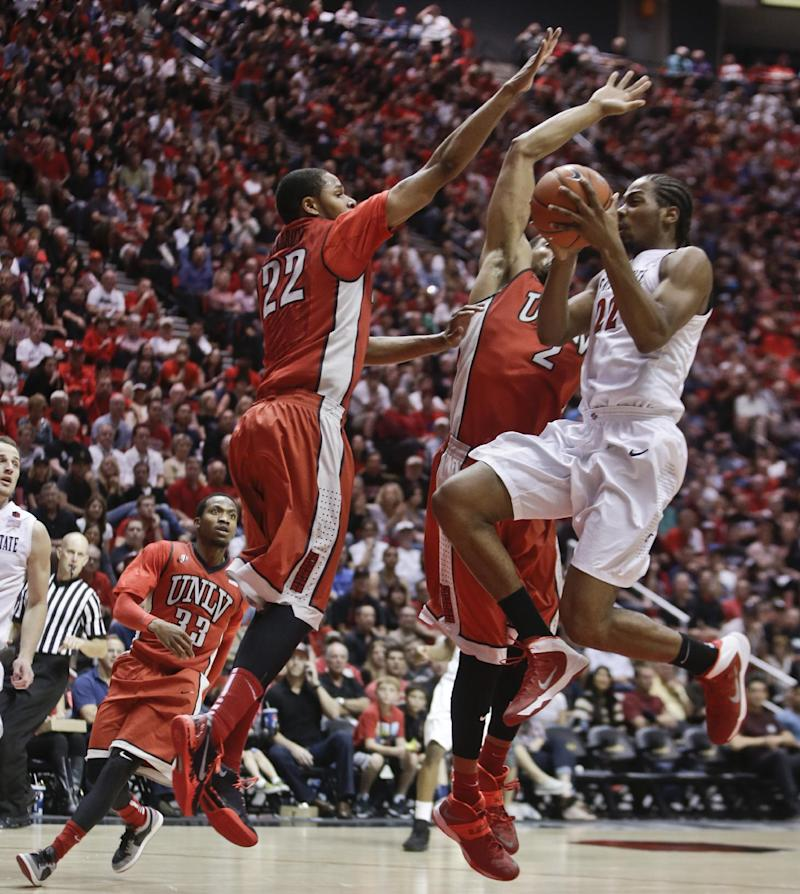 Thames leads San Diego State past UNLV 63-52