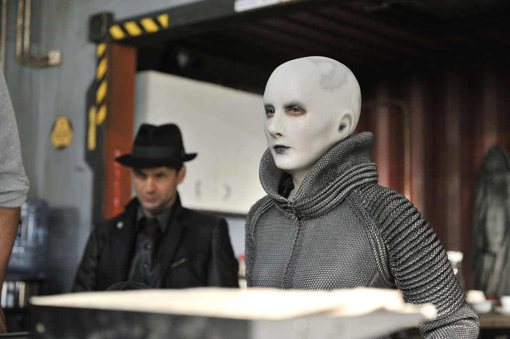 "Trenna Keating as Doc Yewll in the ""Defiance"" episode, ""I Just Wasn't Made for These Times."""