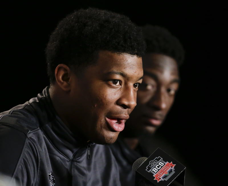 Star of the show: Jameis meets media before BCS