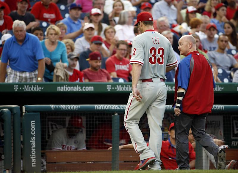 Phillies place Lee on 15-day disabled list