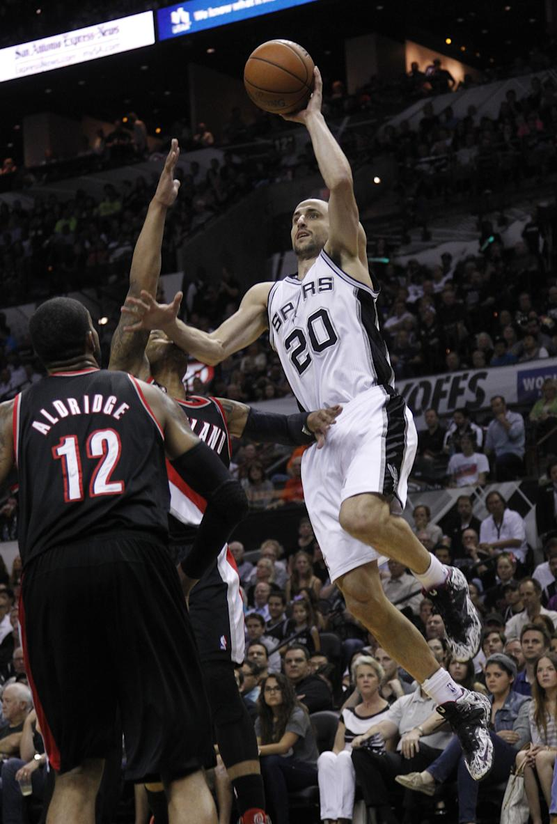 Spurs roll to 2-0 lead over Trail Blazers