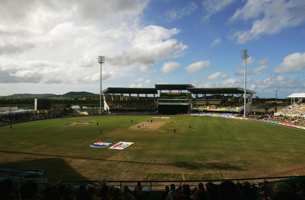 ST. JOHN'S, ANTIGUA AND BARBUDA - APRIL 08: A general view during the ICC Cricket World Cup Super Eights match between Australia and England at the Sir Vivian Richards Stadium on April 8, 2007 in St. John's, Antigua and Barbuda.  (Photo by Hamish Blair/Getty Images)