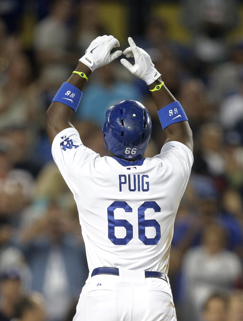 Puig still making mistakes as playoffs await