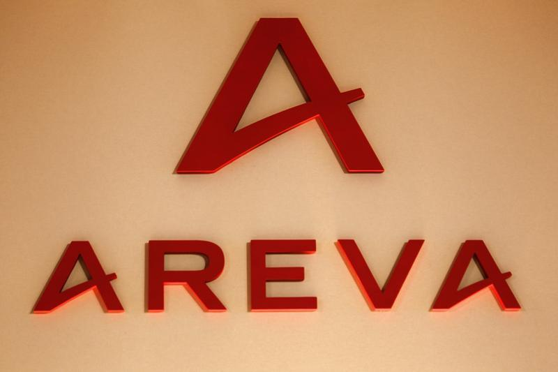 Logo of France's nuclear reactor maker Areva, is seen during the company's 2009 annual results presentation in Paris