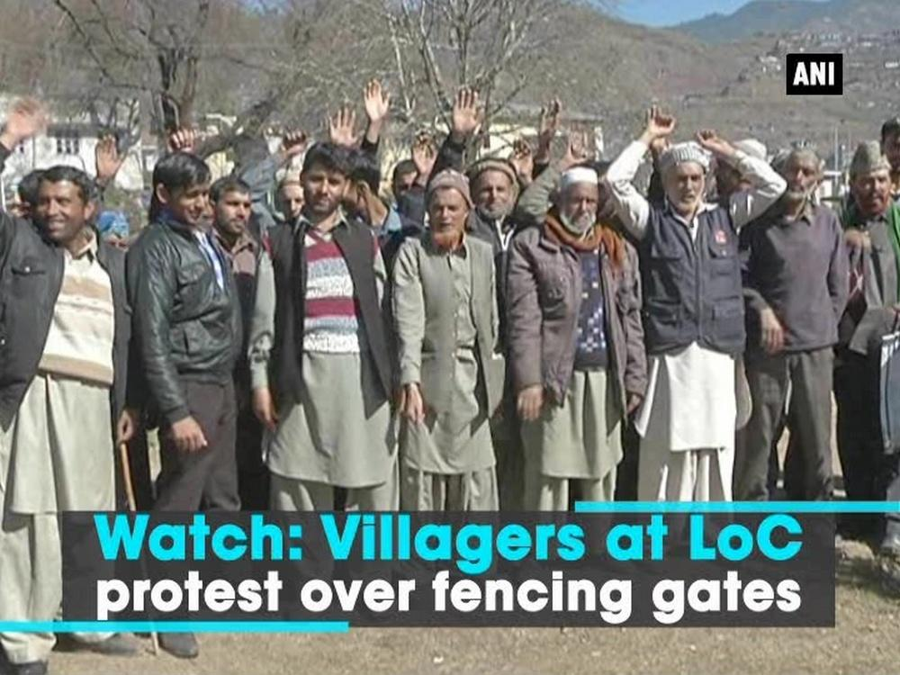 Villagers of Shahapur village which is located on the LoC border in Poonch district of Jammu and Kashmir (Jammu and Kashmir) protested regarding the installation of new fence line in their village on LoC on Wednesday.  The villagers appealed to the district administration not to install new fence line as the old fence line was already passing through their village.