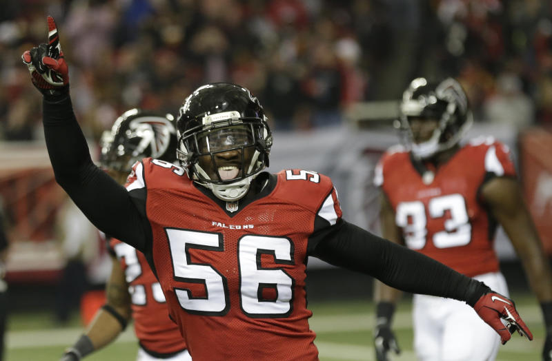 Falcons' Weatherspoon to miss 2014 season