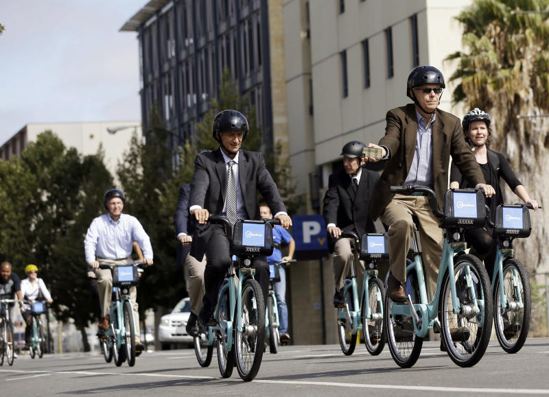 San Francisco Bay bike-share launches in 5 cities