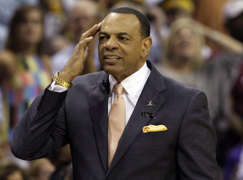 In this May 27, 2013 file photo, Memphis Grizzlies coach Lionel Hollins gestures during the first half in Game 4 of the Western Conference finals NBA basketball playoff series  against the San Antonio Spurs, in Memphis, Tenn. The Brooklyn Nets say they have reached an agreement in principle with Hollins to become their coach, moving quickly after the departure of Jason Kidd. The deal with the former Grizzlies coach comes just two days after they made a trade with Milwaukee to allow Kidd out of his contract so the Bucks could hire him. The Nets then met with Hollins on Monday night and again Tuesday before agreeing to the deal on Wednesday, July 2, 2014