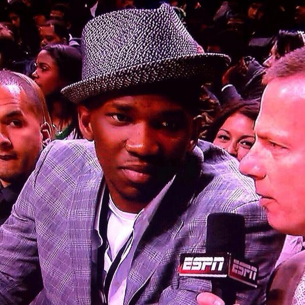 Joel Embiid in a Fedora