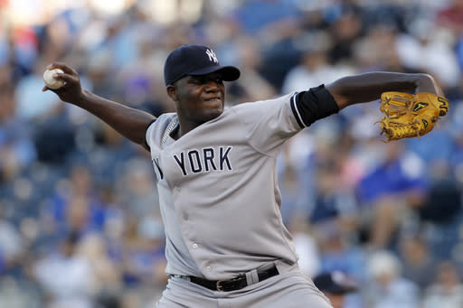 Yankees rout Royals 8-1 in makeup of June rainout