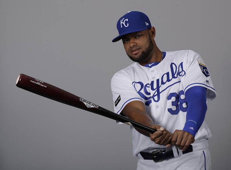 Needing offense, the Royals turned to one of their top power-hitting prospects in Jorge Bonifacio. (AP Photo/Charlie Riedel)
