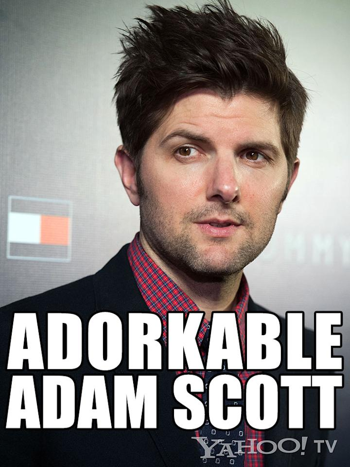 "<strong>Adam Scott<br /><br /></strong>If you're single and you go to an online dating site, you're probably thinking, ""This isn't a waste of time. Maybe there's a guy like Adam Scott out there for me: handsome, kind, just bashful enough to be cute without seeming immature, bright eyes, a quick wit, thick hair, but doesn't hide behind his thick hair or his snarky jokes."" He exists … on TV. Yep, Ben Wyatt of ""<a href=""http://tv.yahoo.com/shows/parks-and-recreation/"">Parks and Recreation</a>"" is reason enough to move to Pawnee, Indiana. Of course, that's not actually possible. Ben's married and Pawnee is a make-believe city. But we bet you'd get coffee with the cad he played on ""<a href=""http://tv.yahoo.com/shows/tell-me-you-love-me/"">Tell Me You Love Me</a>."" Yep, he's <em>that</em> cute."