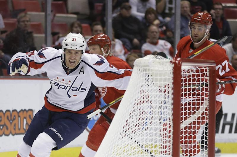 Backstrom's SO goal give Caps win over Red Wings