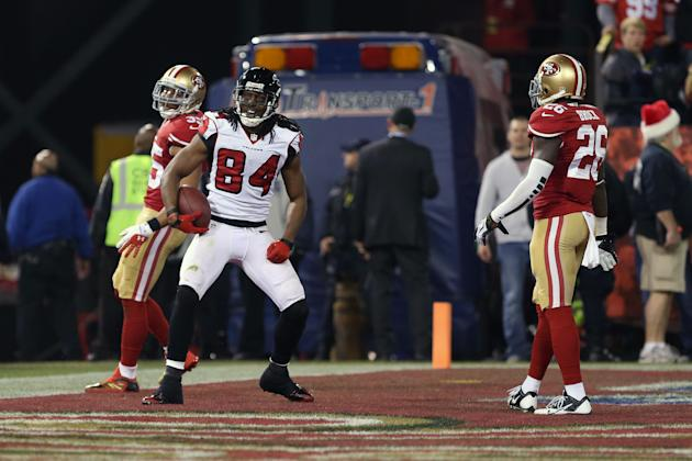 Roddy White should have more cause to celebrate in 2014. (USAT)