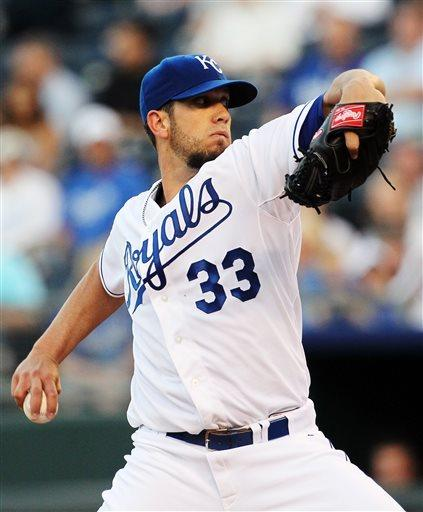 Shields leads Royals to 8-2 win over Rays