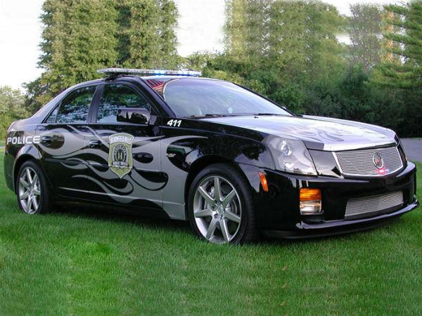 The Michigan city police use this Cadillac CTS-V as a patrol vehicle.