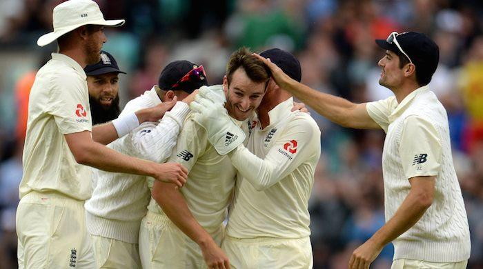 July 29  England's debutant Roland Jones put South Africa in big trouble on day two of the third test at The Oval on Friday. The visitors were struggling with 126/8 on scoreboard at stumps
