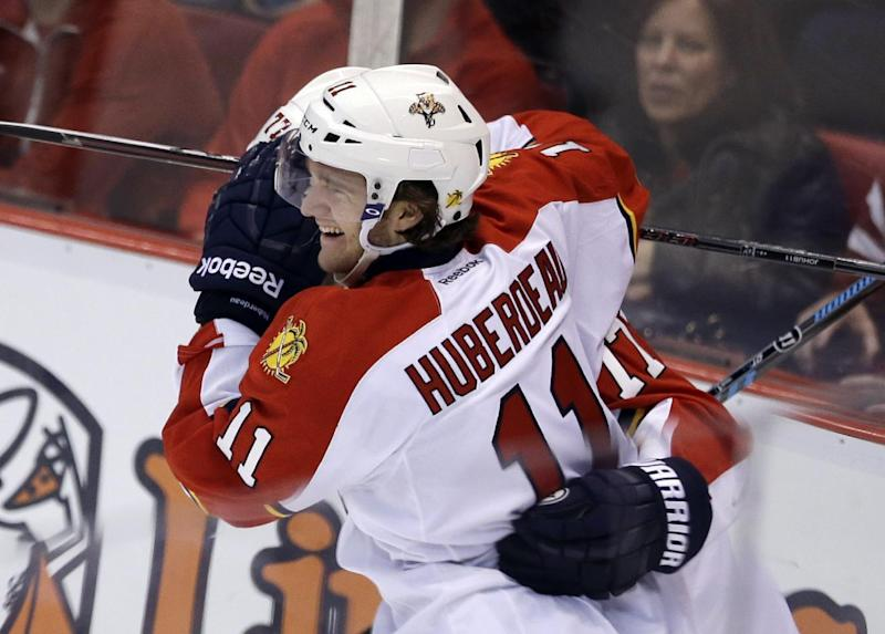 Huberdeau's goal gives Panthers 2-1 win over Wings