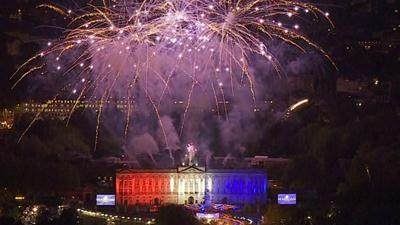 Raw Video: Fireworks display for Diamond Jubilee