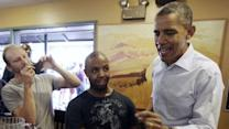 Raw Video: Obama visits Colo. restaurant