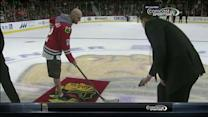 The Fratellis compete in shoot the puck