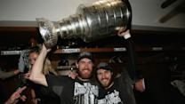 Kings celebrate with the Stanley Cup