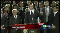Gavin Newsom says moral authority changed world for gays