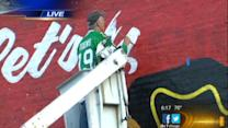 Blackhawks fan paints huge mural on Chicago building