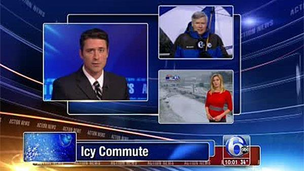 Special on-air coverage of icy commute