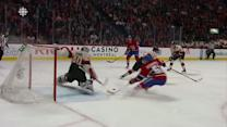 Lehner stuffs Desharnais on the doorstep