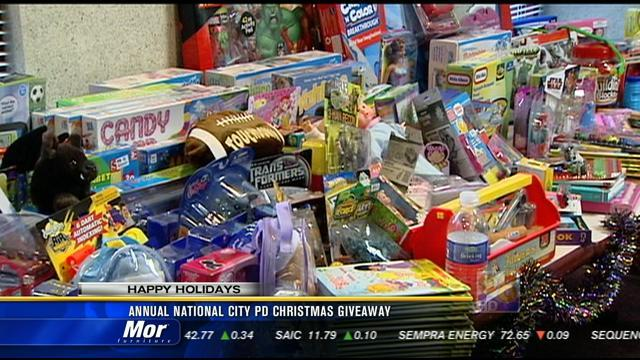 Annual National City PD Christmas giveaway